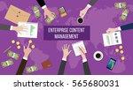 discussion about enterprise... | Shutterstock .eps vector #565680031