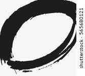 grunge vector frame oval shape. ...   Shutterstock .eps vector #565680121