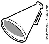 megaphone illustration | Shutterstock .eps vector #565681285