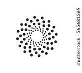 abstract circular halftone dots ... | Shutterstock .eps vector #565681369