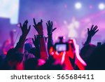 the audience at the concert.  | Shutterstock . vector #565684411