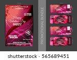 vector happy valentine's day... | Shutterstock .eps vector #565689451