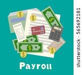 invoice sheet  paysheet or... | Shutterstock .eps vector #565692181
