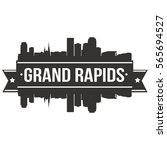 grand rapids skyline stamp... | Shutterstock .eps vector #565694527