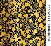 vector golden on black abstract ... | Shutterstock .eps vector #565697179