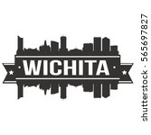 wichita skyline stamp... | Shutterstock .eps vector #565697827