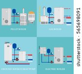 types of heating systems set