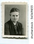 Vintage portrait of woman (thirties) - stock photo
