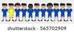 vector character football team | Shutterstock .eps vector #565702909