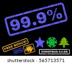 99.9 percent text rubber seal... | Shutterstock .eps vector #565713571