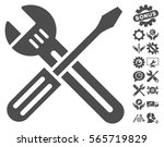 spanner and screwdriver icon...   Shutterstock .eps vector #565719829