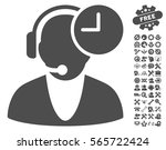 operator time pictograph with... | Shutterstock .eps vector #565722424