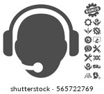 operator head icon with bonus... | Shutterstock .eps vector #565722769