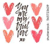 love lettering. hand drawn... | Shutterstock .eps vector #565723639