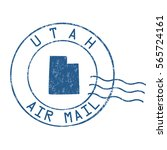 utah post office  air mail ... | Shutterstock .eps vector #565724161