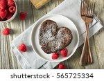 Homemade Sweet Chocolate Heart...