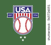 a classic usa shield with stars ... | Shutterstock .eps vector #565726051