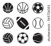 a set of basic sports balls... | Shutterstock .eps vector #565726351