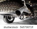exhaust pipe of a truck | Shutterstock . vector #565730719