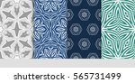 set of modern floral pattern of ... | Shutterstock .eps vector #565731499