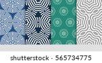 set of seamless vector patterns.... | Shutterstock .eps vector #565734775