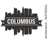 columbus skyline stamp... | Shutterstock .eps vector #565750261