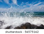 The Waves Breaking On A Stony...