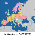 detailed vector map of the... | Shutterstock .eps vector #565752775