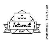 world internet day emblem...   Shutterstock .eps vector #565753105