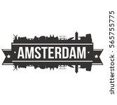 amsterdam skyline stamp... | Shutterstock .eps vector #565755775