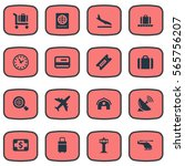 set of 16 simple transportation ...   Shutterstock .eps vector #565756207