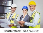 portrait of smiling architects...   Shutterstock . vector #565768219
