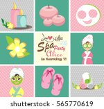 spa party card | Shutterstock .eps vector #565770619
