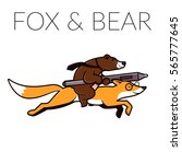 Fox And Bear Logo Template....