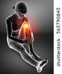 3d illustration of women knee...   Shutterstock . vector #565790845
