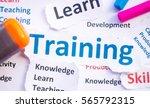 business training concept... | Shutterstock . vector #565792315