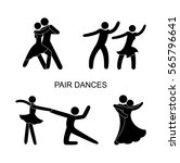 set of stick figure dance ... | Shutterstock .eps vector #565796641
