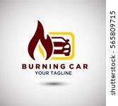 burning car logo vector.... | Shutterstock .eps vector #565809715