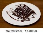 chocolate dessert on plate | Shutterstock . vector #5658100