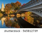 fall in central park at the... | Shutterstock . vector #565812739