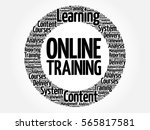 online training circle word... | Shutterstock . vector #565817581