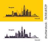 bangkok thailand city skyline... | Shutterstock .eps vector #565818529