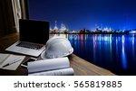 engineering industry concept... | Shutterstock . vector #565819885
