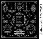 vector set of vintage elements... | Shutterstock .eps vector #565821811