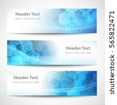 vector banner abstract... | Shutterstock .eps vector #565822471