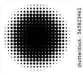 vector retro style dotwork... | Shutterstock .eps vector #565823461