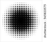 vector retro style dotwork... | Shutterstock .eps vector #565823575