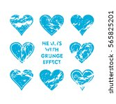 Blue Heart With Grunge Effect...