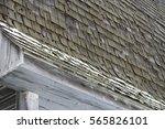 Cedar Shake Barn Roof In Winter