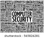 computer security word cloud... | Shutterstock . vector #565826281